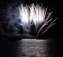 Firework over the sea by Jenny1960