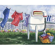 Wash Day Blues Photographic Print