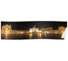 Panorama of St. Peter's Basilica, Vatican, Rome Poster