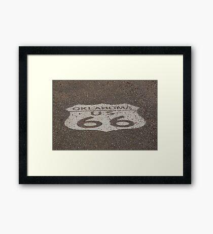 Route 66 - Oklahoma Shield Framed Print