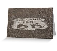 Route 66 - Oklahoma Shield Greeting Card
