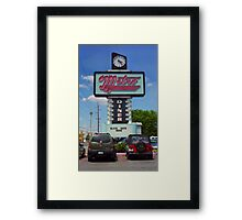 Route 66 - Metro Diner Framed Print