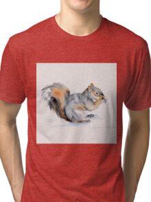 Squirrel's winter snacktime Tri-blend T-Shirt