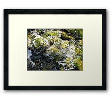 Rushing stream, Dublin Ireland Framed Print