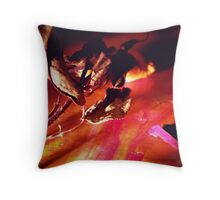 Flower in the Dark Throw Pillow