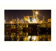killybegs at night Art Print
