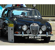 Jag MK2 Police car Photographic Print