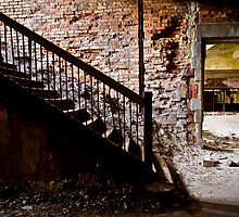 Abandoned Stairway #3 by Rdemingphoto