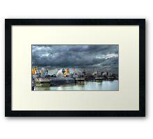 Thames Barrier HDR Framed Print