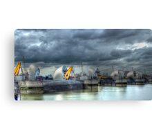 Thames Barrier HDR Canvas Print