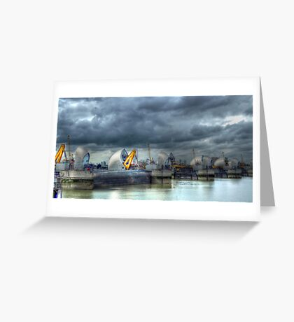 Thames Barrier HDR Greeting Card