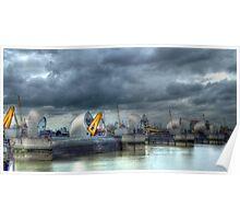 Thames Barrier HDR Poster