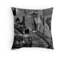 Walking in Altea Throw Pillow