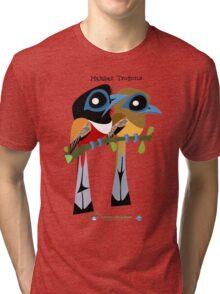 Malabar Trogon caricature Tri-blend T-Shirt
