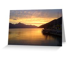 Sunset In Queenstown Greeting Card