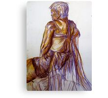 Chalk Pastel Figure Drawing Canvas Print
