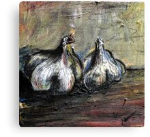Still Life- Garlic Canvas Print