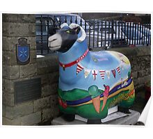 More sheep in Skipton Poster