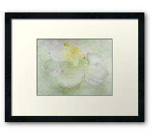 Translucent Daffodils, and Glass Daisy Framed Print