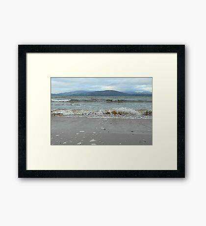 At the ocean's edge... Framed Print