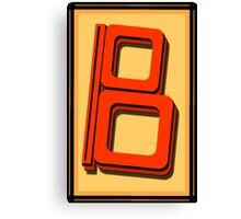 The Alphabet  The letter B Canvas Print