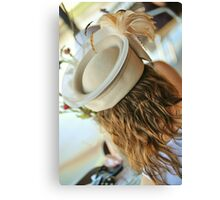 brown hat lady  Canvas Print