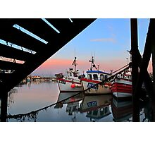 Scarborough Harbor  Photographic Print