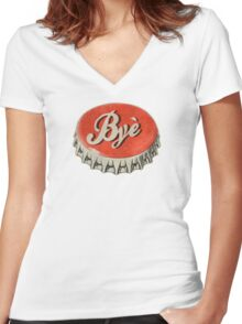 Byè Women's Fitted V-Neck T-Shirt