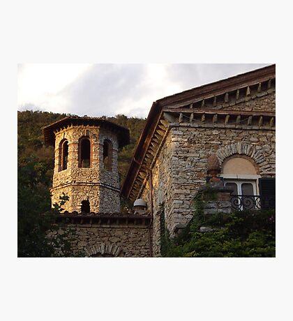 Tuscan Villa Stonework Photographic Print