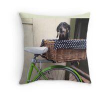 Poppie's Bike Ride Throw Pillow