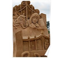 Bed bugs sand sculpture Poster