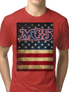 MC5 Flag Design Tri-blend T-Shirt