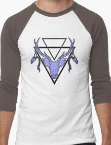 Triangle Deer H Men's Baseball ¾ T-Shirt