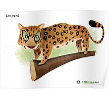 Leopard Caricature Poster