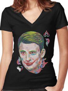Captain Joker Women's Fitted V-Neck T-Shirt