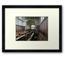 Guild Chapel Interior, Stratford Upon Avon, England. Framed Print