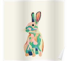 Colourful rabbit, bunny Poster