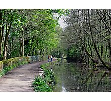 Cromford Canal, Tree Lined Walk Photographic Print