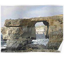 The Azure Window  - Gozo Island Malta Poster