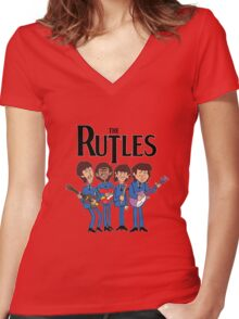 The Rutles Animated Cartoon Women's Fitted V-Neck T-Shirt