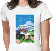Bermuda Vintage Travel Poster Restored Womens Fitted T-Shirt
