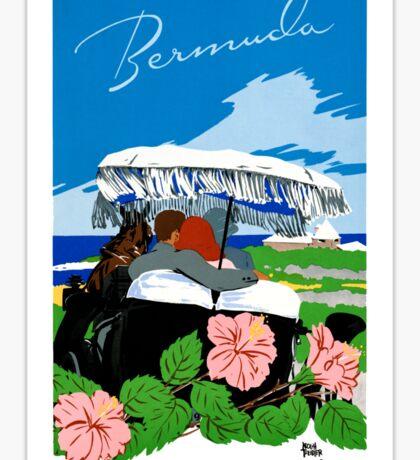 Bermuda Vintage Travel Poster Restored Sticker