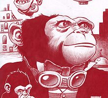 Monkey Masters from another planet by Mike Cressy
