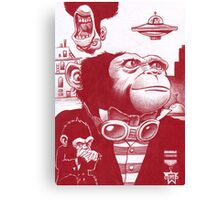 Monkey Masters from another planet Canvas Print