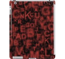 Alphabet Red iPad Case/Skin