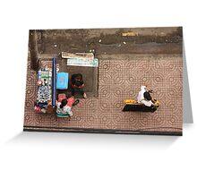 Street Vendors of Saigon Greeting Card