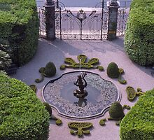 Formal Entrance, garden, Villa Carlotta, Lake Como , Italy. by johnrf