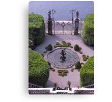 Formal Entrance, garden, Villa Carlotta, Lake Como , Italy. Canvas Print