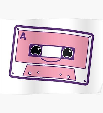 Smiling cassette tape  Poster