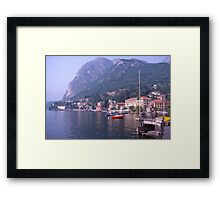 Menaggio, Lake Como, Italy Framed Print